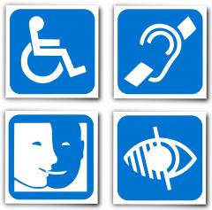 Sigles des différents handicaps