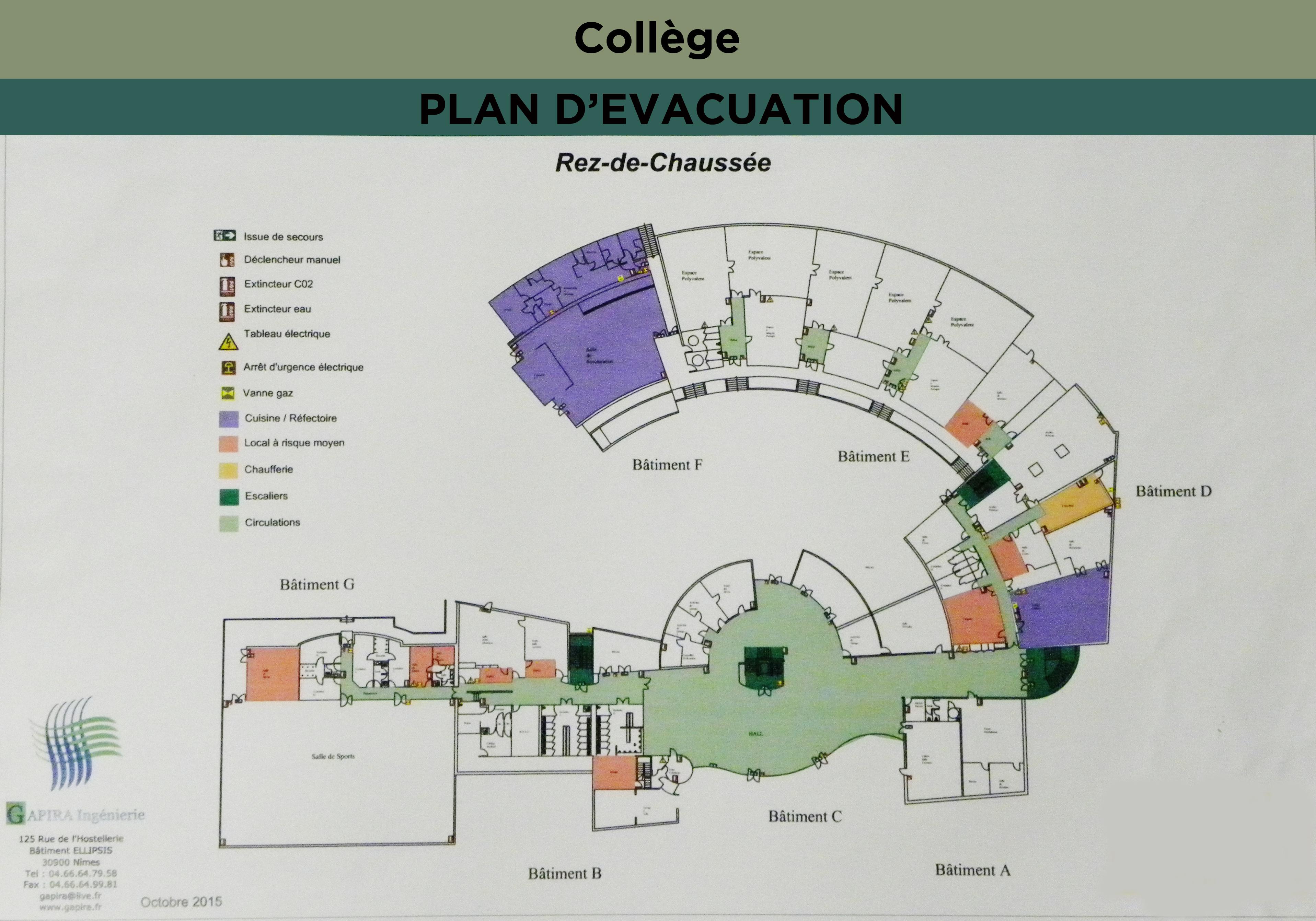 Consignes d'urgence, Plan d'évacuation
